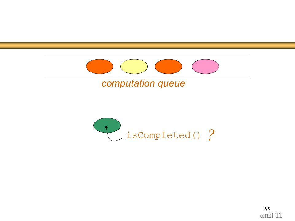 unit computation queue isCompleted()