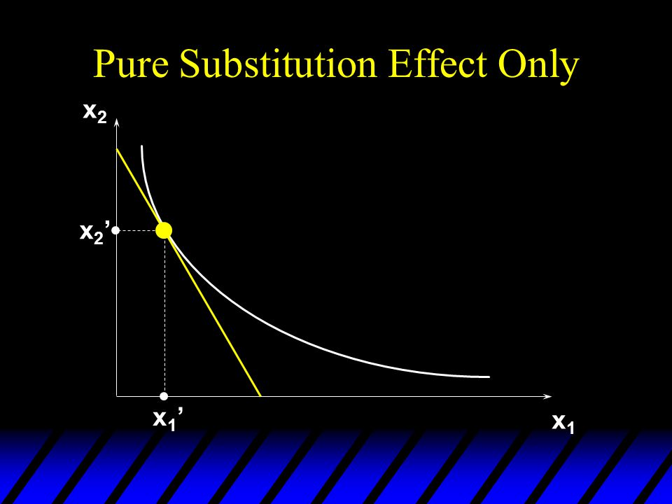 Pure Substitution Effect Only x2x2 x1x1 x2'x2' x1'x1'