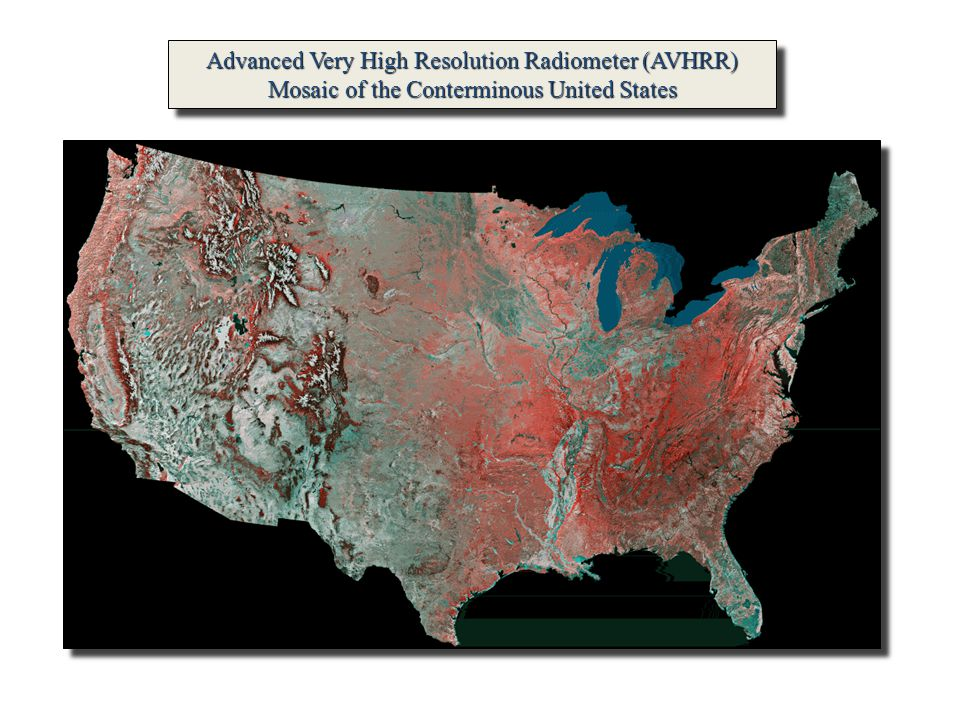 Advanced Very High Resolution Radiometer (AVHRR) Mosaic of the Conterminous United States