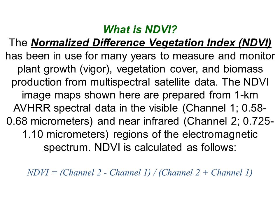 What is NDVI.