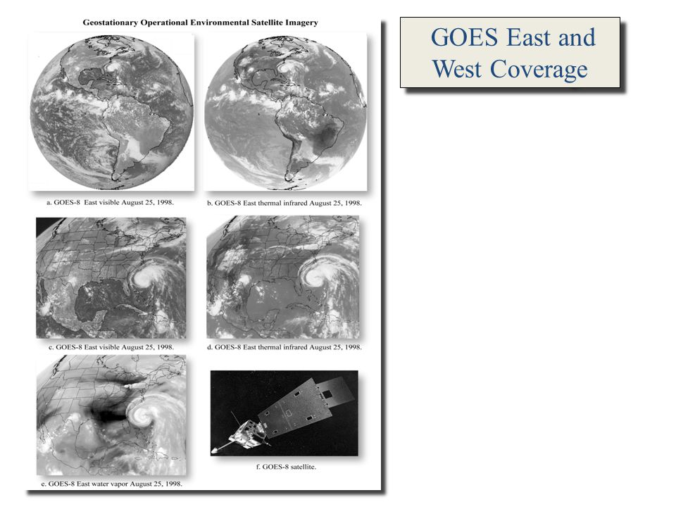 GOES East and West Coverage GOES East Infrared GOES East Infrared August 25, 1989 GOES East Infrared GOES East Infrared August 25, 1989