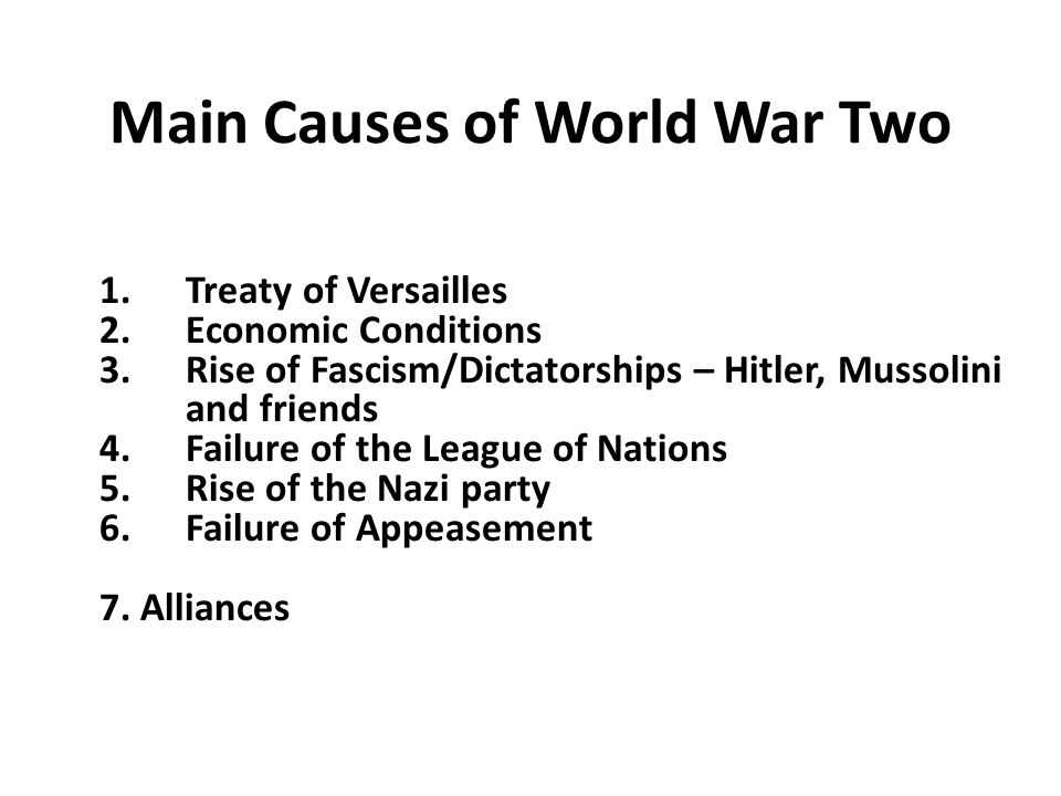 what were the 3 main causes of ww1