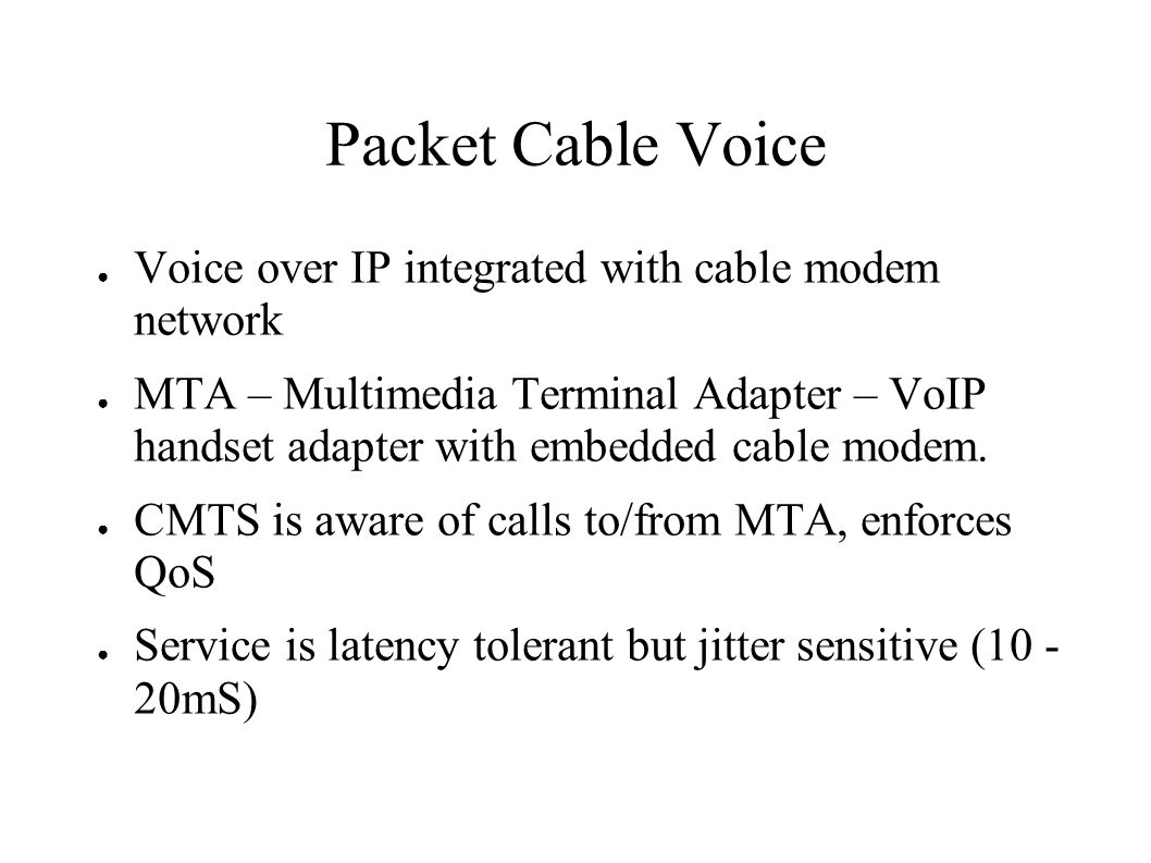 Quality of Service issues in Modular Cable Modem Termination