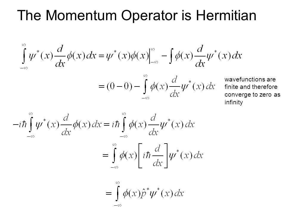 The Momentum Operator is Hermitian wavefunctions are finite and therefore converge to zero as infinity