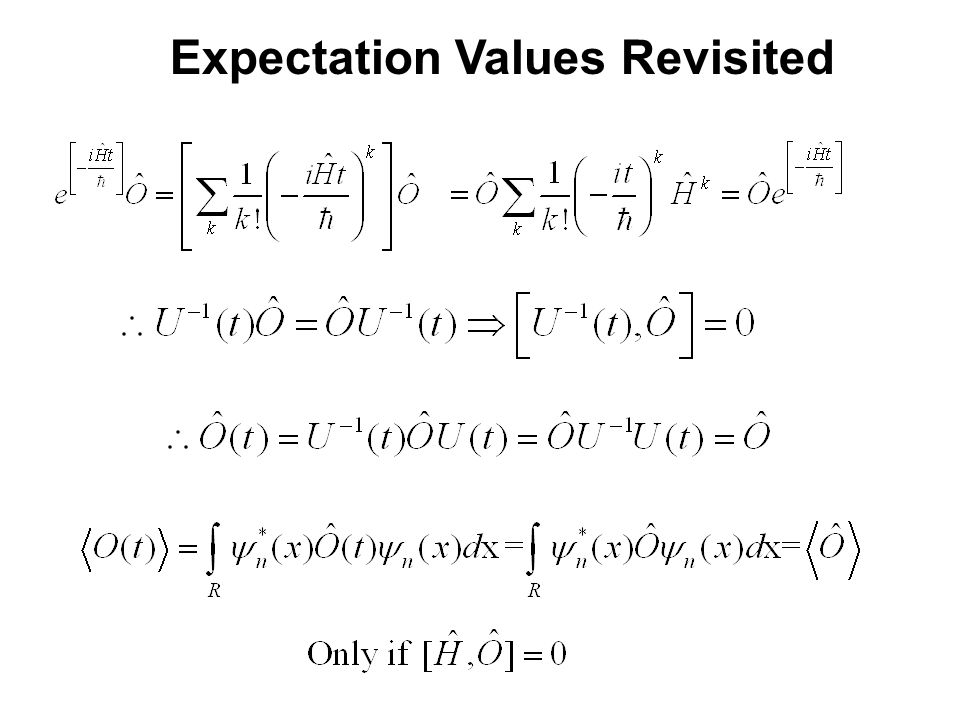 Expectation Values Revisited