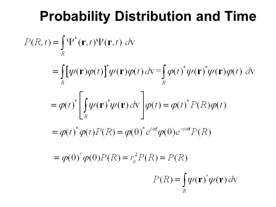 Probability Distribution and Time