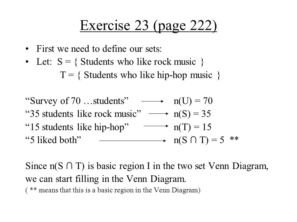 Chapter 5 Section 3 Venn Diagram And Counting Exercise 13 Page 222