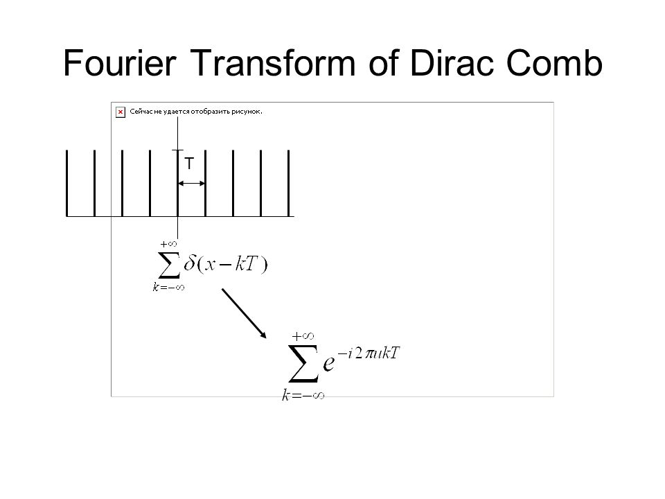 Fourier Transform of Dirac Comb T