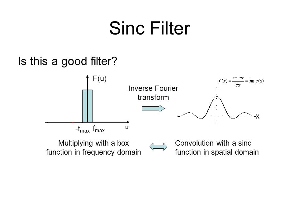 Sinc Filter Is this a good filter.