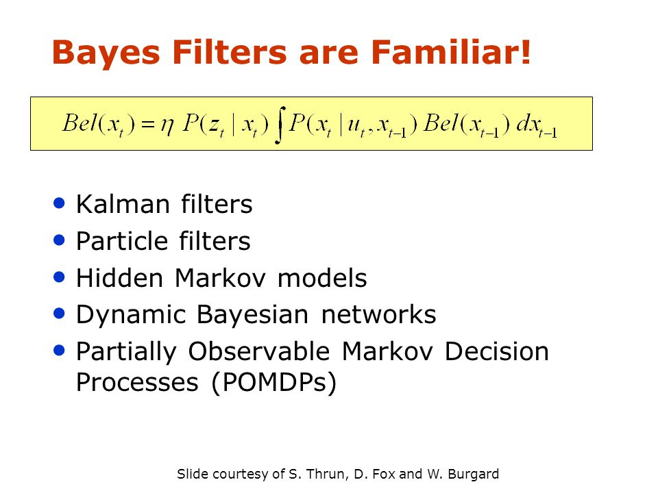 Bayes Filters are Familiar.