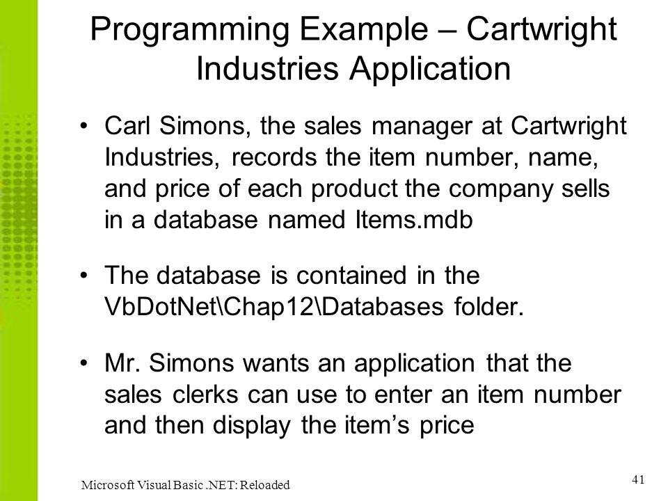 Using ADO NET Chapter Microsoft Visual Basic NET: Reloaded ppt download
