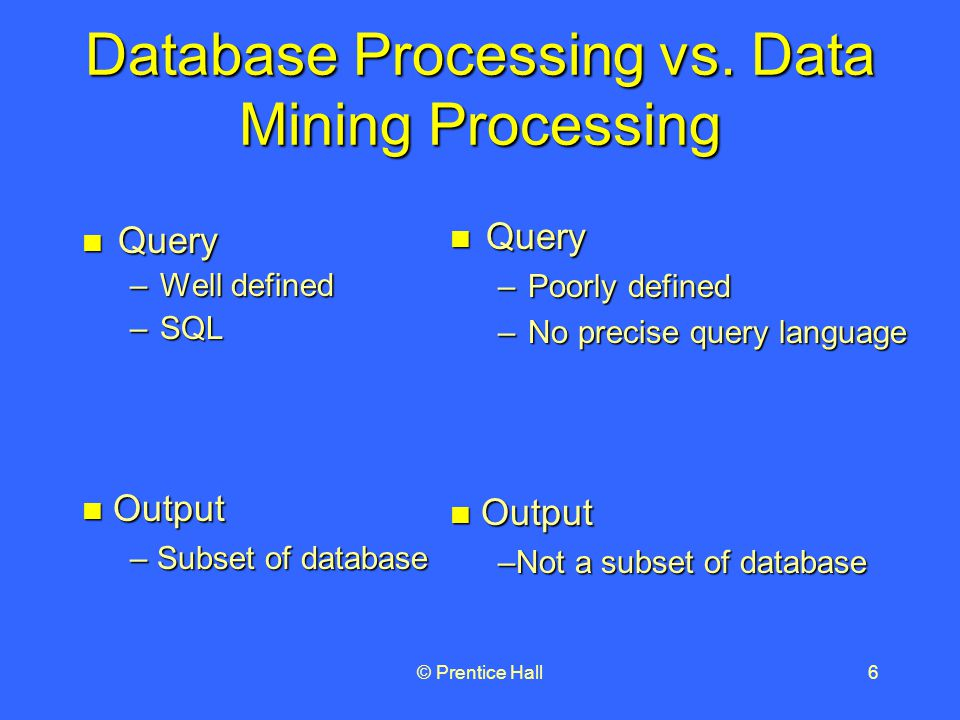 © Prentice Hall6 Database Processing vs.