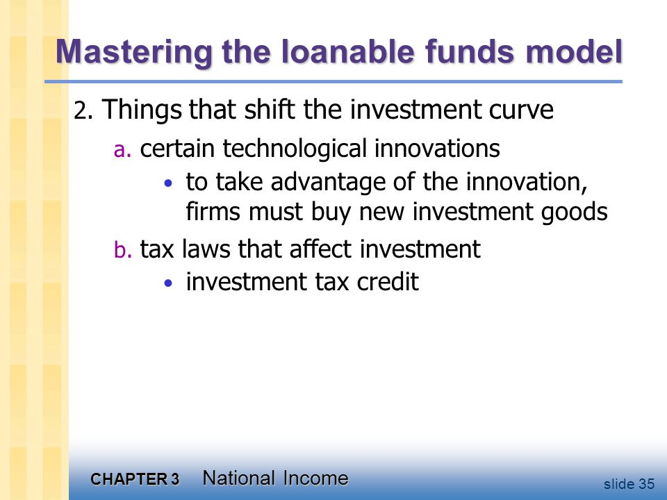 CHAPTER 3 National Income slide 35 Mastering the loanable funds model 2.