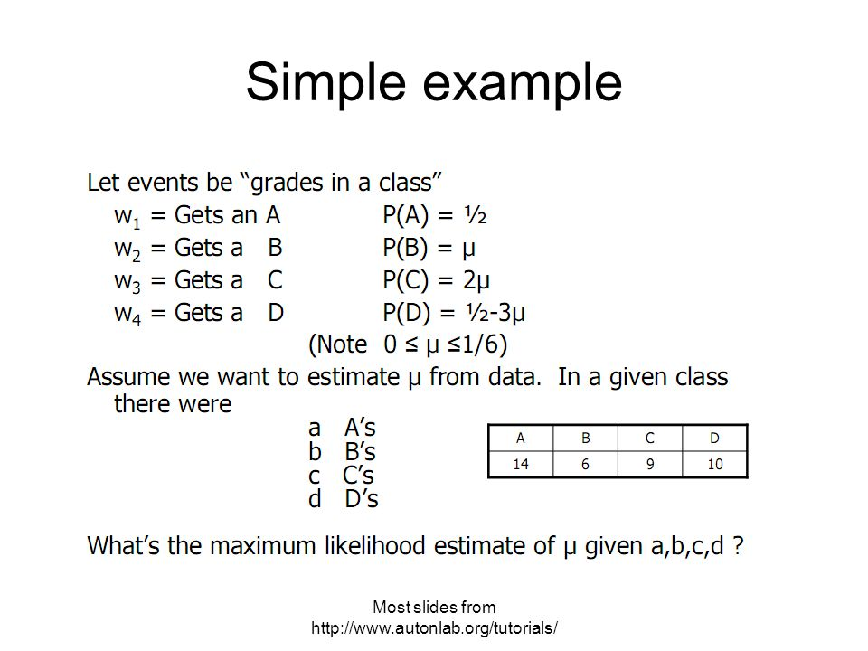 Most slides from   Simple example