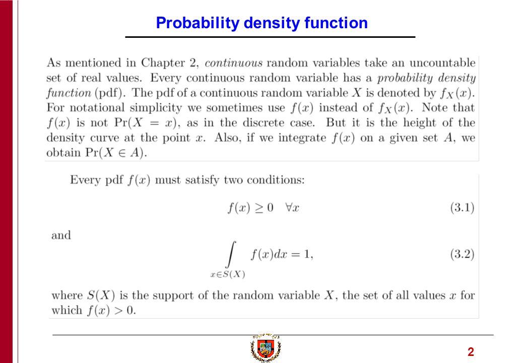 1 Engineering Computation Part 6  2 Probability density