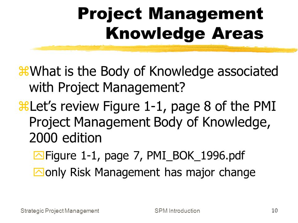 Strategic Project Management 1 SPM Introduction What is a Project