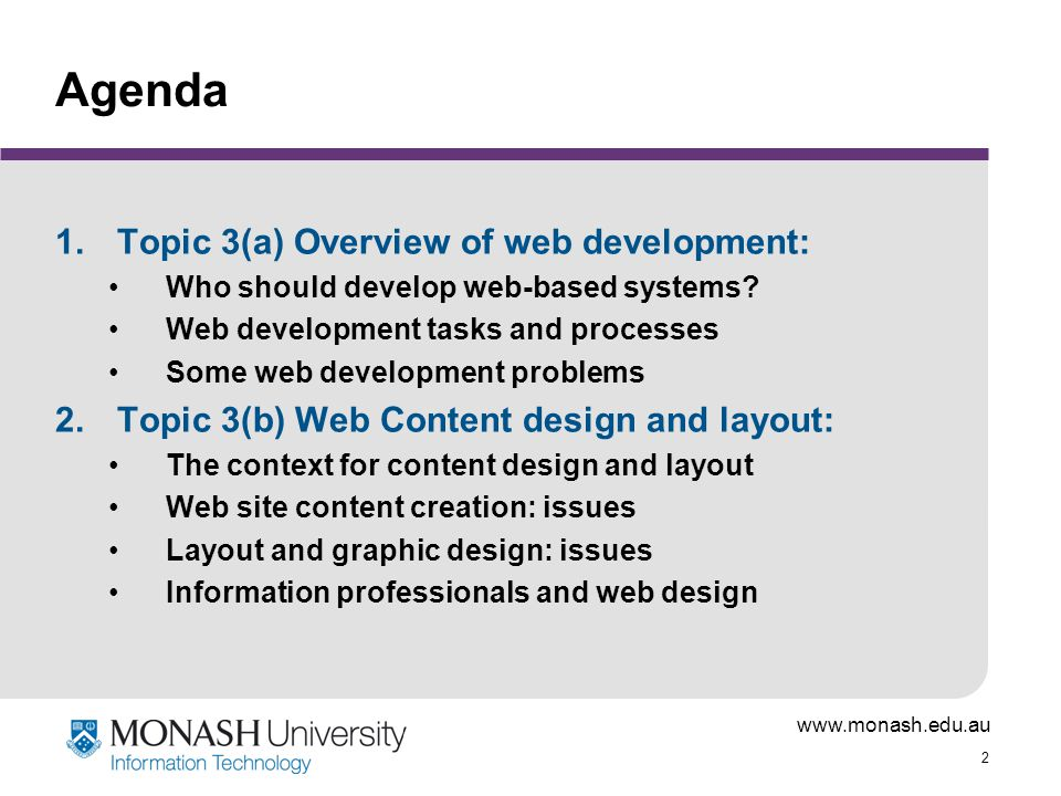 Ims5401 Web Based Systems Development Topic 3 Development For The Web A Overview Of Web Development Issues Ppt Download