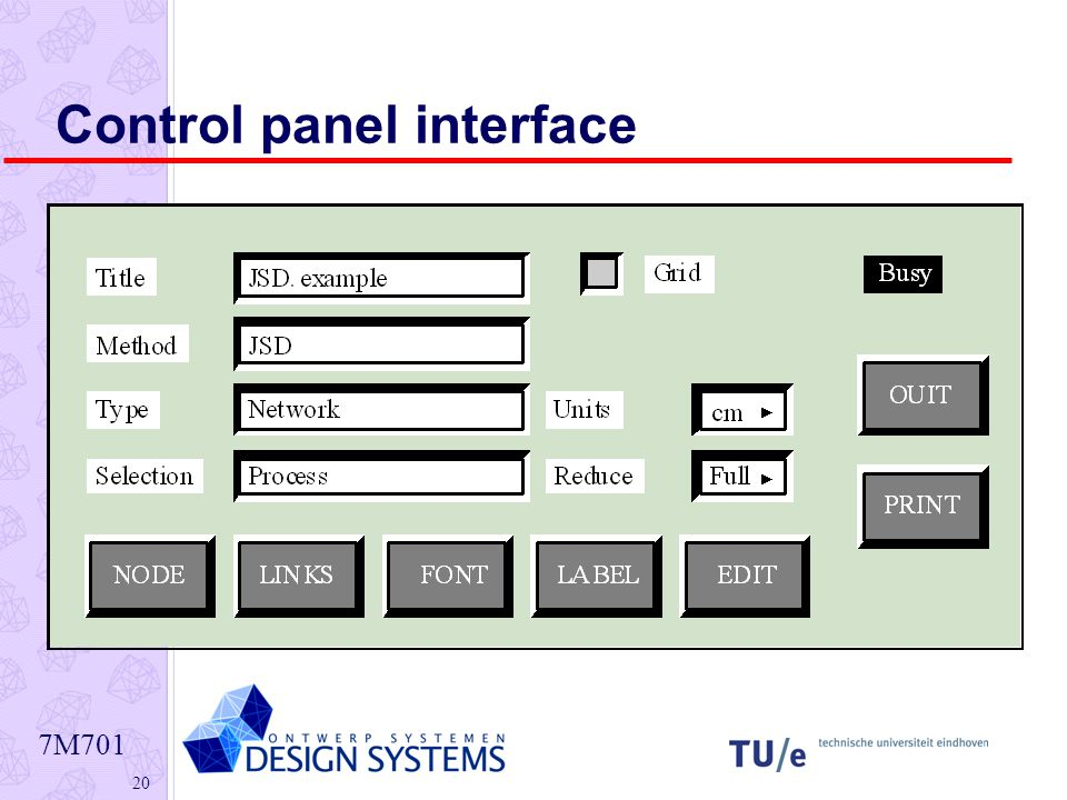 7M Control panel interface