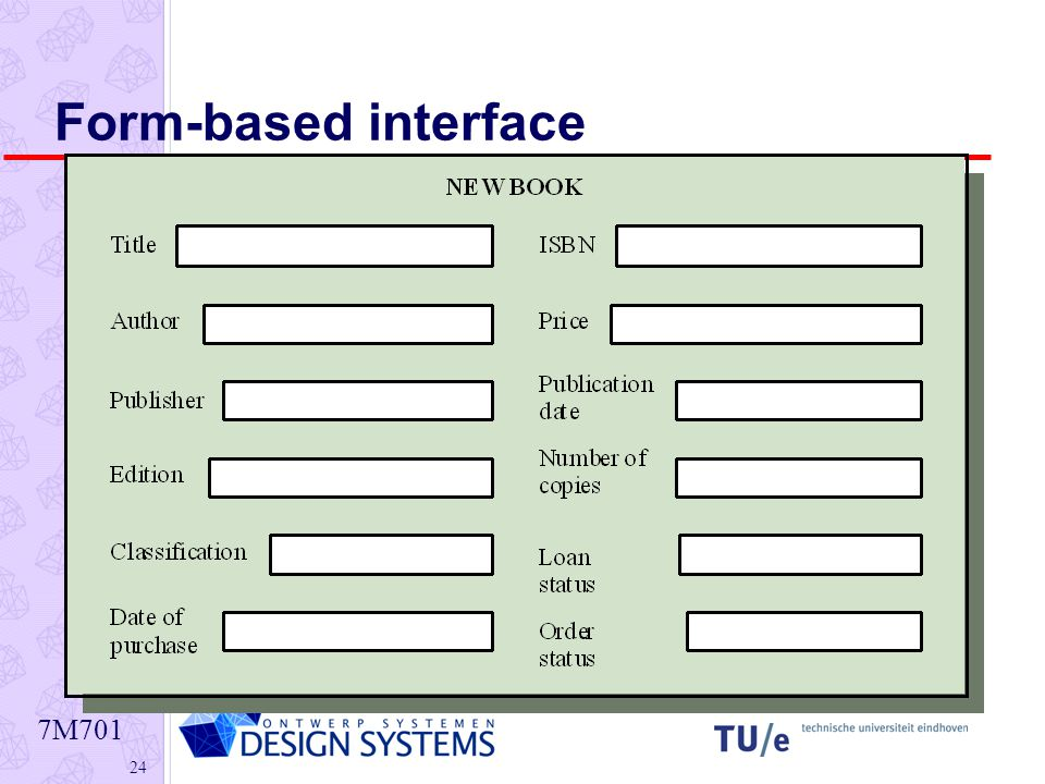 7M Form-based interface
