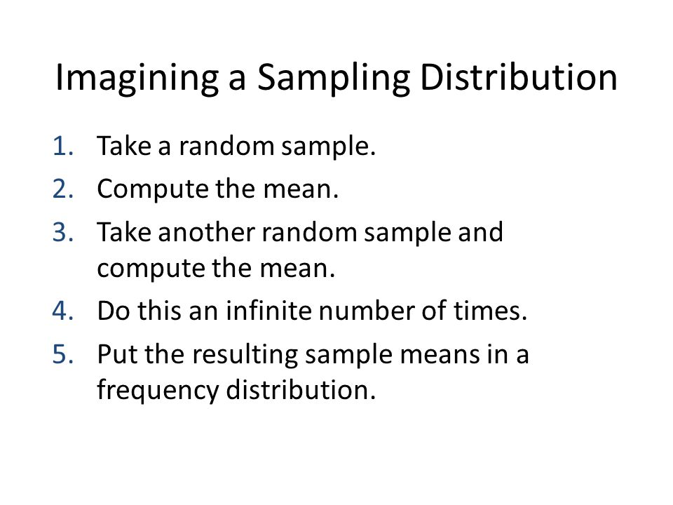 What is a Sampling Distribution.