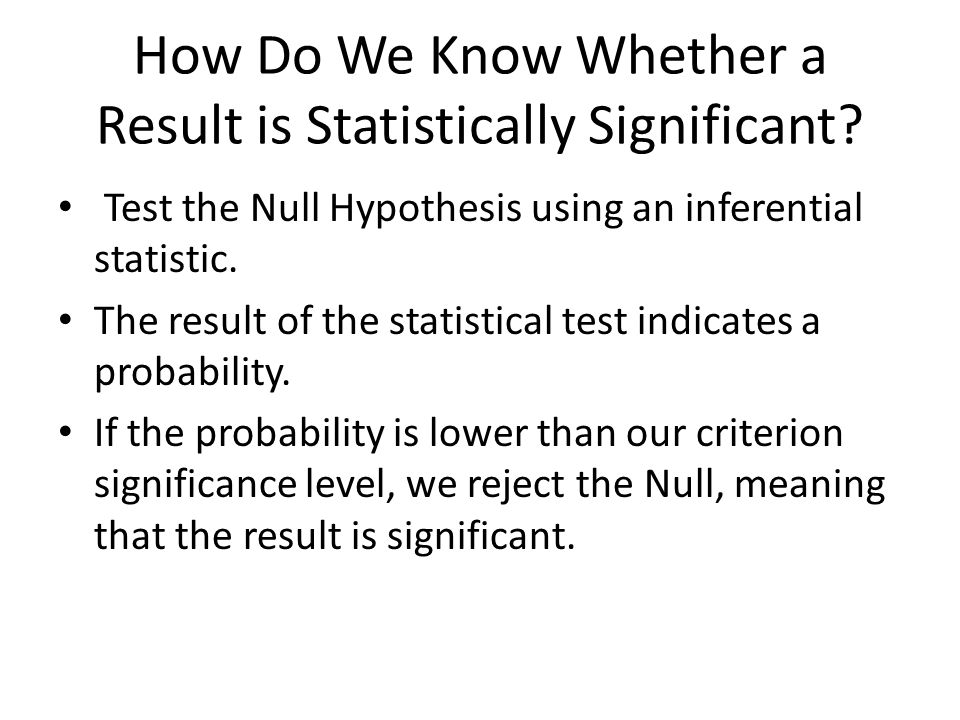 What is Statistical Significance.