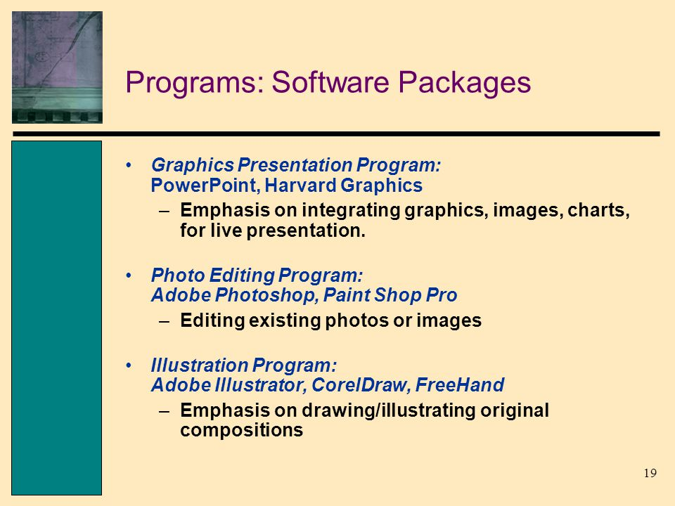 harvard graphics presentation software