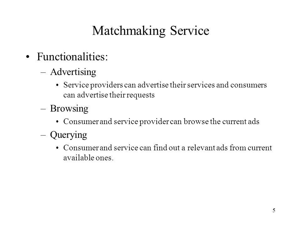 définition des services de matchmaking
