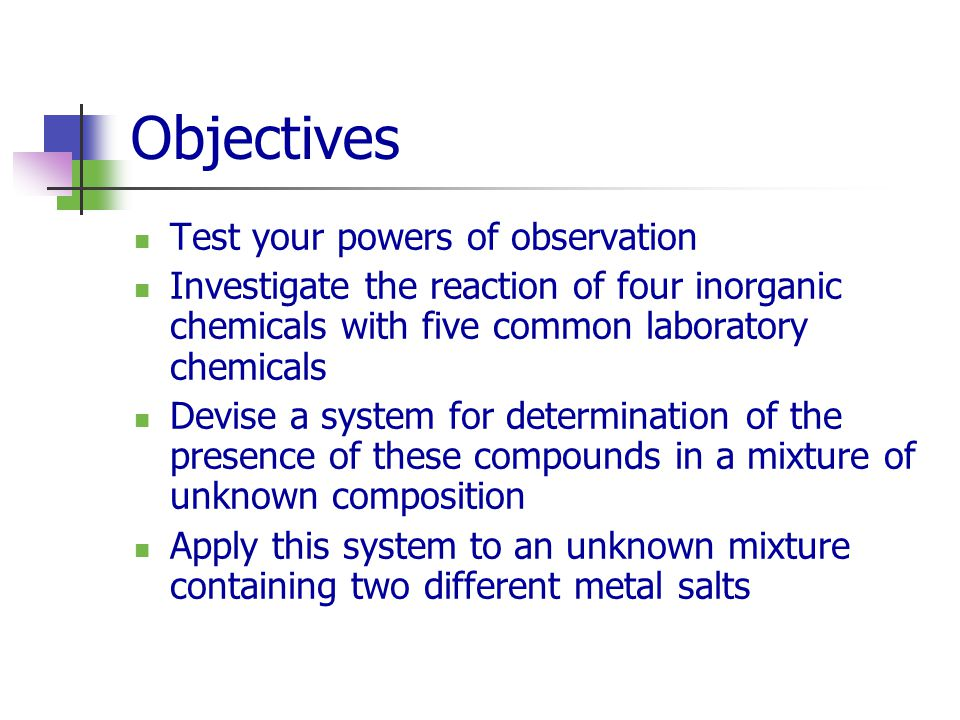 Experiment 4 Observing Chemical Reactions Chemistry