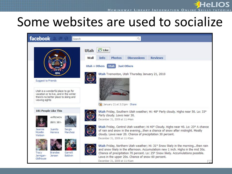 Some websites are used to socialize