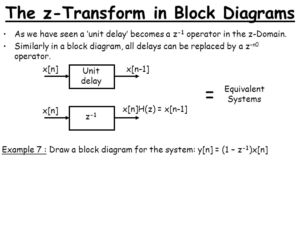 block diagram z transform wiring diagram Oliver 60 Wiring-Diagram mm3fc mathematical modeling 3 lecture 6 times weeks 7,8 \\u0026 9the z transform in block diagrams as we have seen a \\u0027unit delay\\u0027