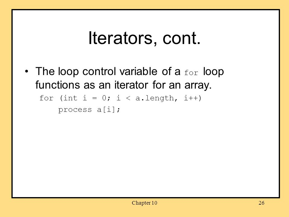 Chapter 1026 Iterators, cont.