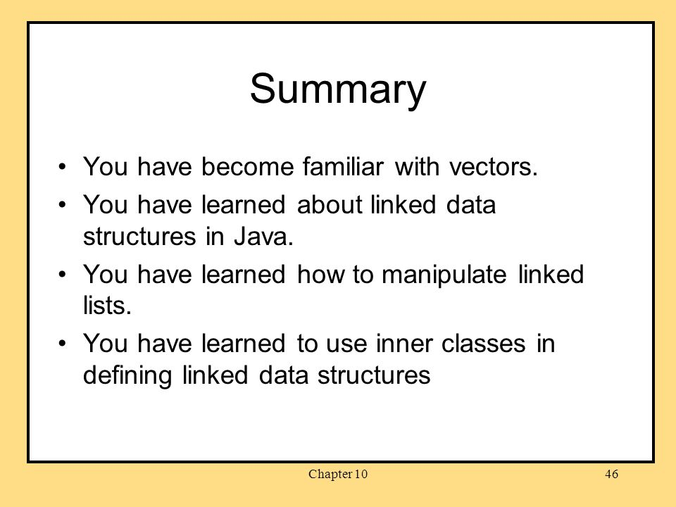 Chapter 1046 Summary You have become familiar with vectors.