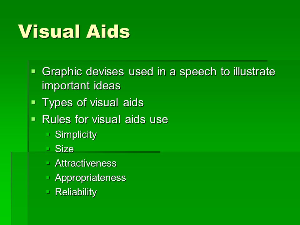 visual speech ideas