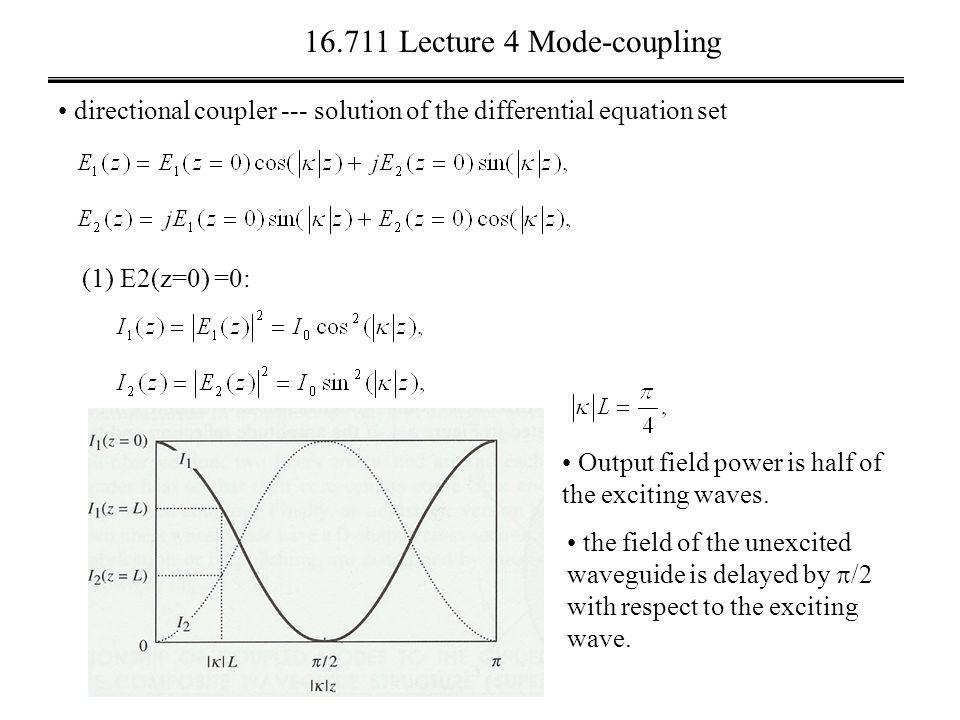Lecture 4 Optical fibers Last Lecture Fiber modes Fiber