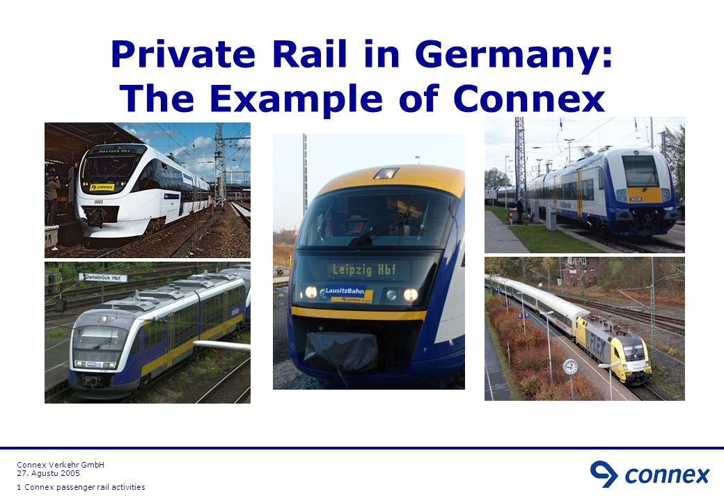 Connex Verkehr Gmbh 27 Agustu Connex Passenger Rail Activities