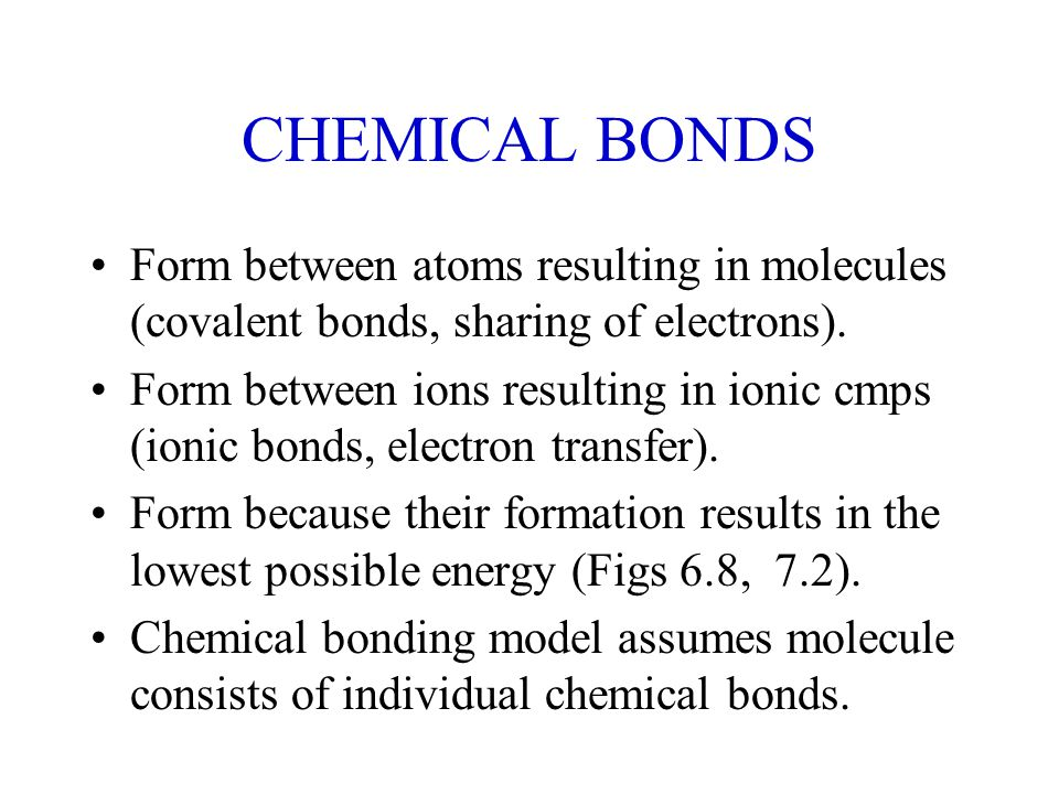 covalent bonds & molecular structure. chemical bonds form between