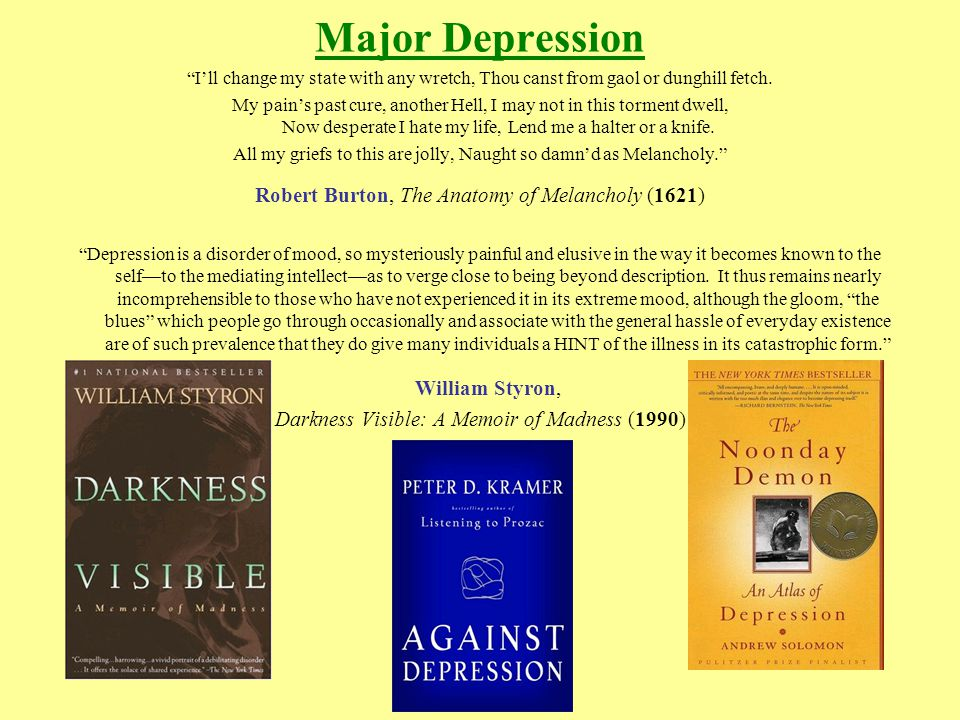 """DEPRESSION. Major Depression """"I\'ll change my state with any wretch ..."""