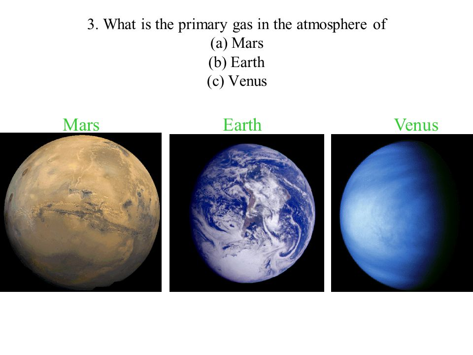 name three gases in the atmosphere