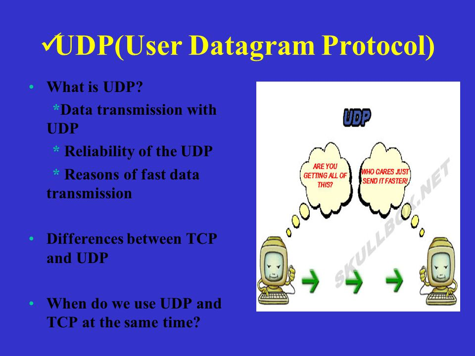 UDP(User Datagram Protocol) What is UDP.