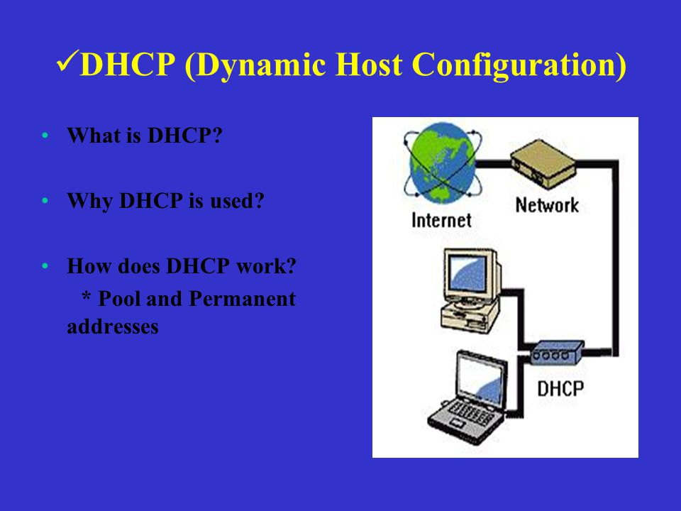DHCP (Dynamic Host Configuration) What is DHCP. Why DHCP is used.
