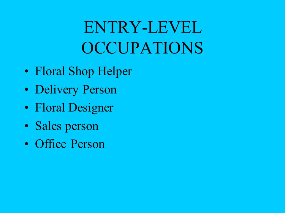 Floral Industry Background Topic 2091 By Katie Wagar. - ppt download