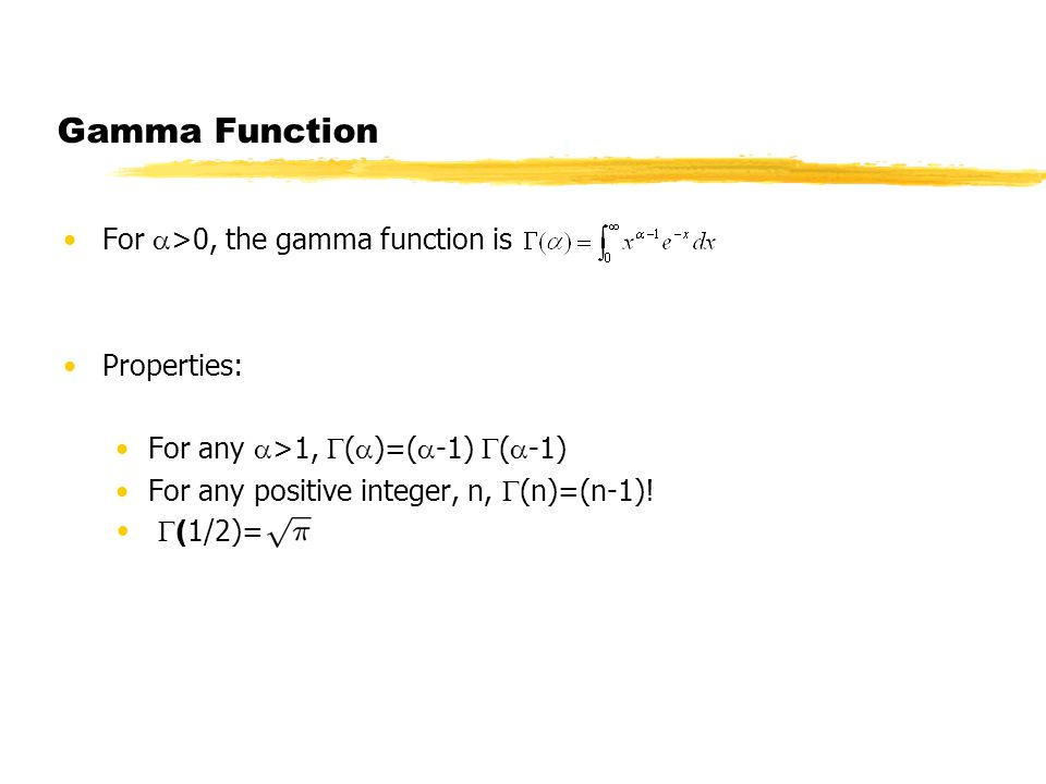 Statistics Lecture 16  Gamma Distribution Normal pdf is symmetric
