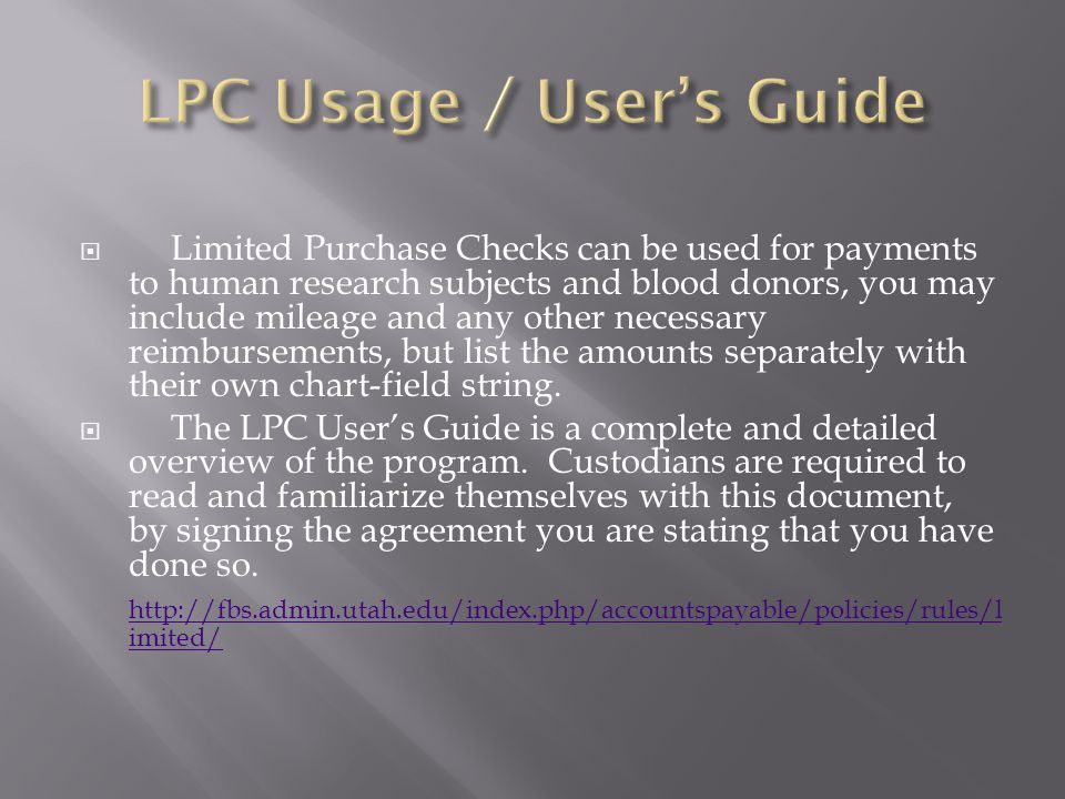 Lpc Usage And Users Guide How To Order Your Own Check Stock