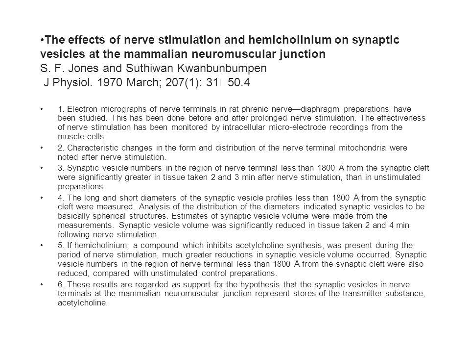 1  Electron micrographs of nerve terminals in rat phrenic