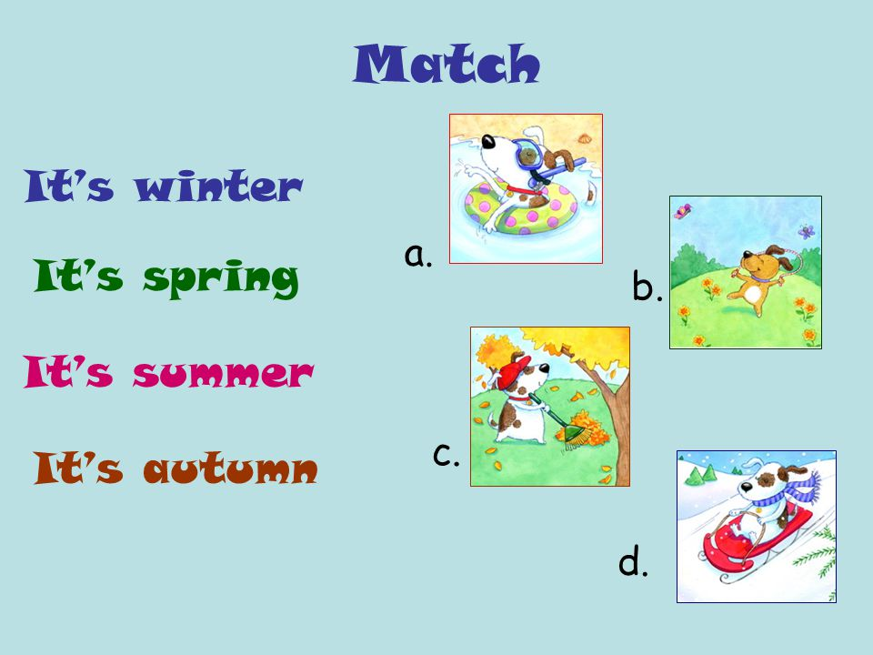 Year, seasons, months and weather  winterspring summer