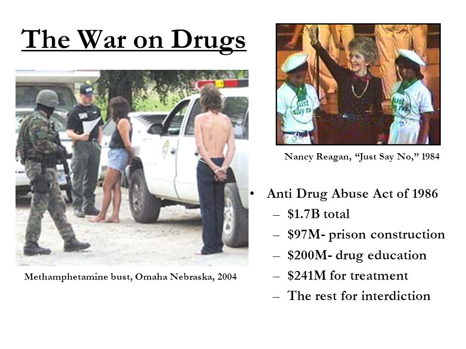 American Justice, I The Crime Problem II The War on Drugs