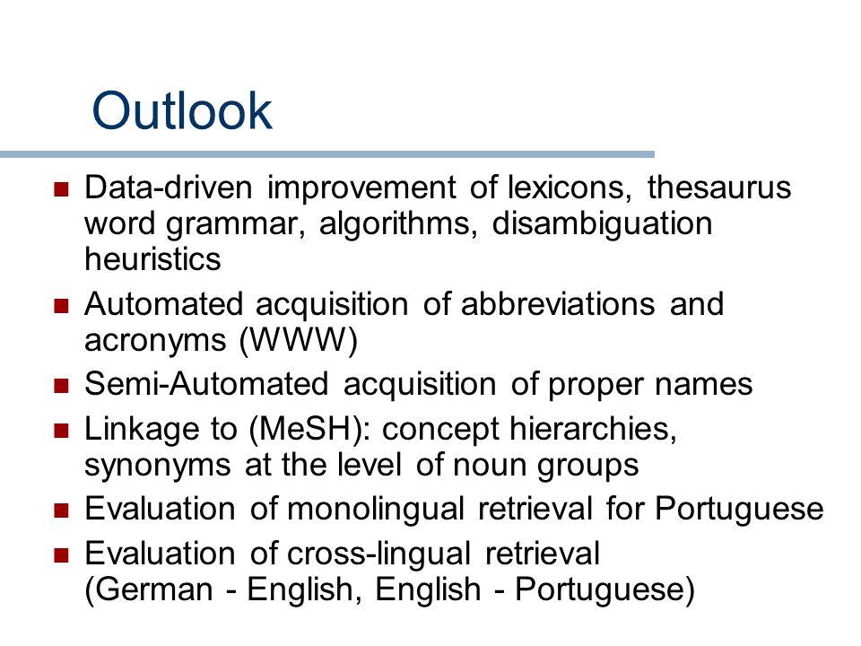 Text Retrieval Based on Medical Subwords Martin Honeck 1