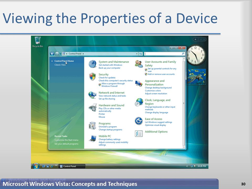 Viewing the Properties of a Device 30 Microsoft Windows Vista: Concepts and Techniques