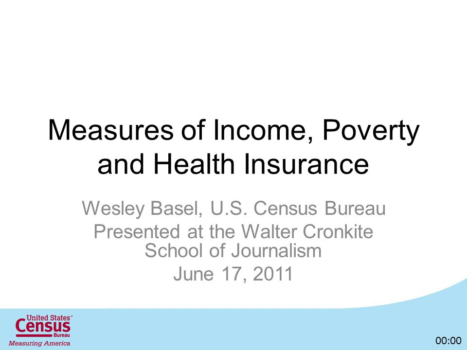 Measures of Income, Poverty and Health Insurance Wesley Basel, U.S.