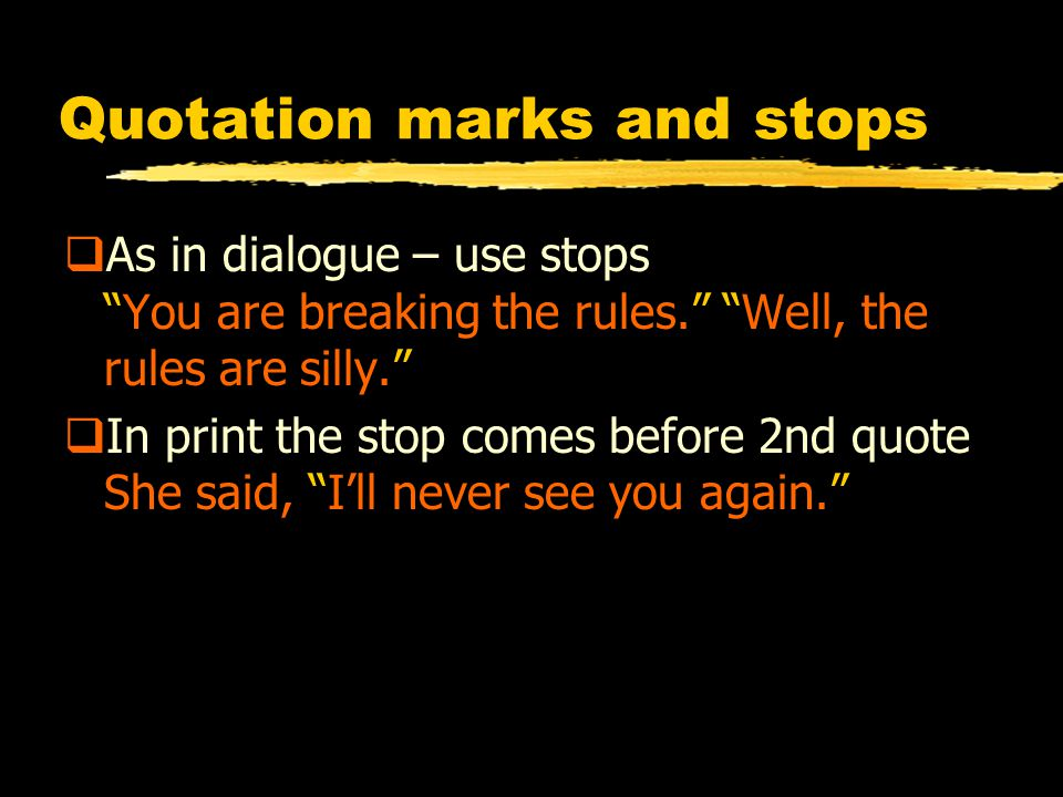Quotations Quotation Marks Openning And Closing Also